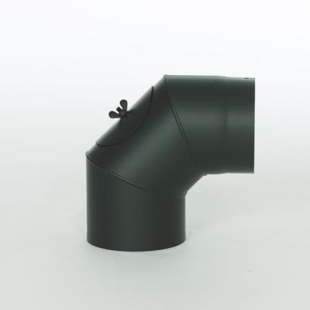 Røgrør - uisoleret - Bøjning 90 grader - ø 150 mm