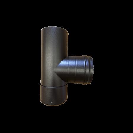 Røgrør – uisoleret – T sektion med sodskål – ø 80 mm