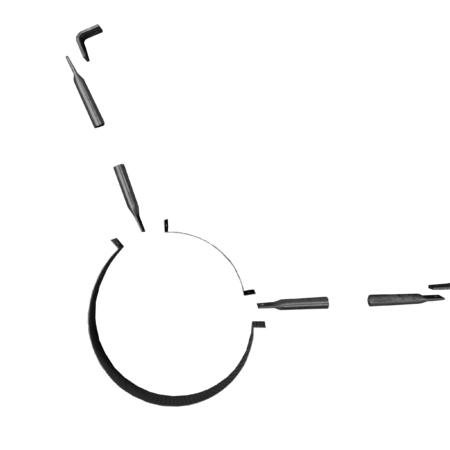 Støttebeslag til tag - ø150 mm - sortlak