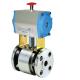 Antares Stainless kuglehane med pneumatisk aktuator