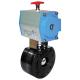 Selene Carbon kuglehane med pneumatisk aktuator