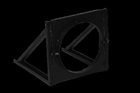 Vægkonsol, Kort model, 5-20 cm justering – ø150 mm – sortlak, SMI 150 TWST-B