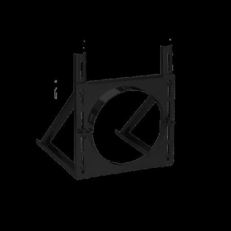 Vægkonsol, Lang model, 20-40 cm justering – ø150 mm – sortlak, SMR 150 TWST-B