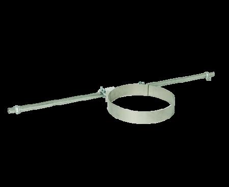 Styrebeslag for spær tyr til sikring af stabilitet i skorstenen (ved vindpåvirkning, etc). Monteres på spærene lige under tag (taginddækning).